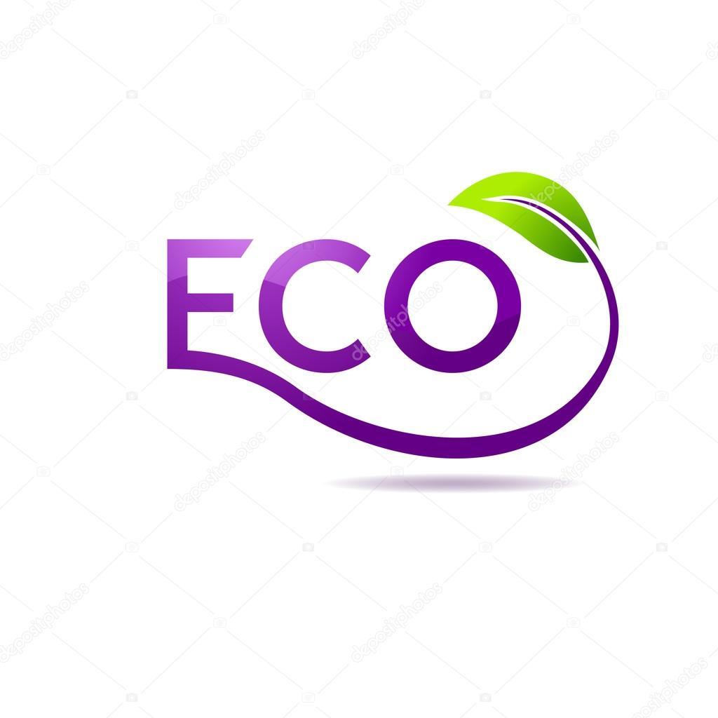 Green leaf vector logo design template. Garden logotype creative