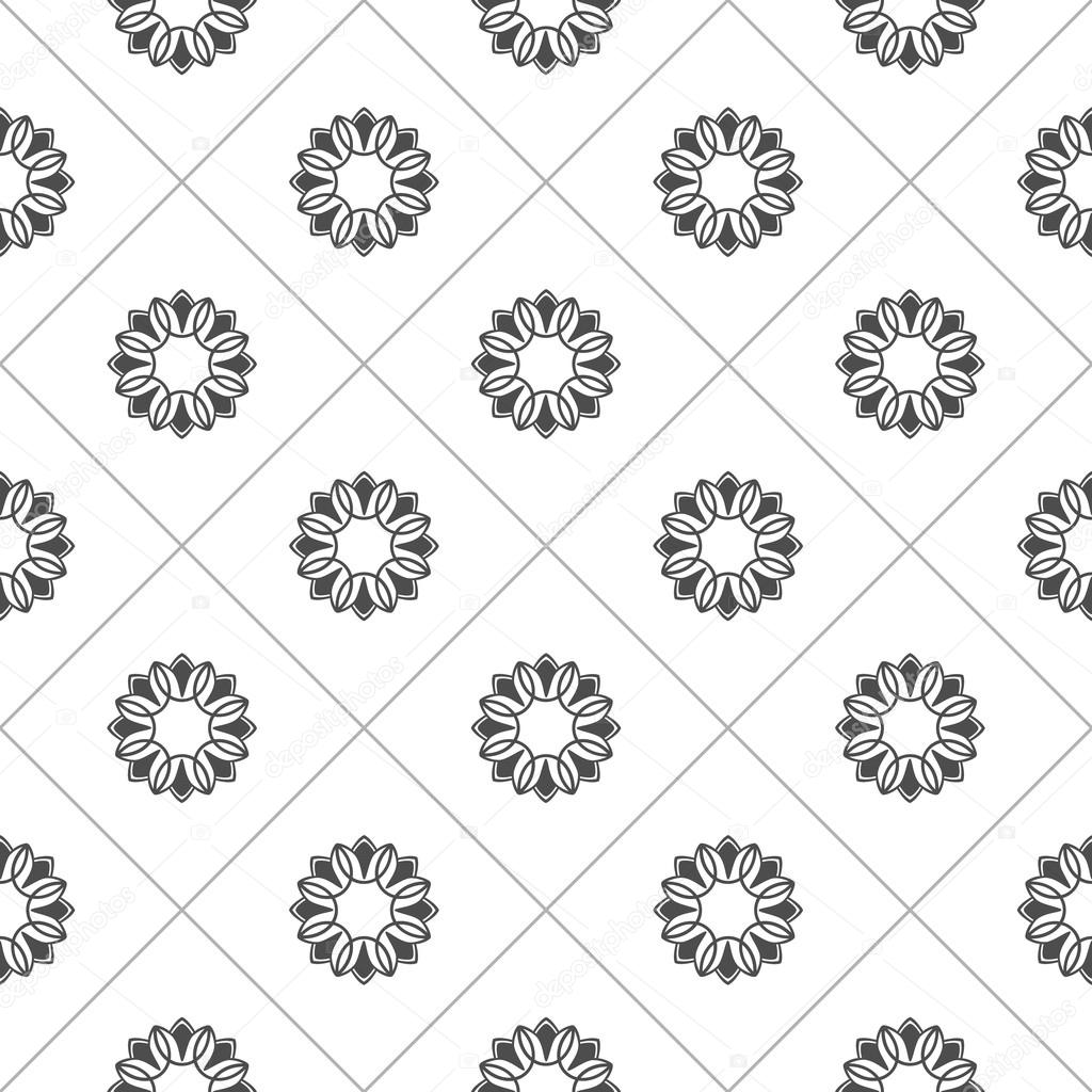 Pattern for coloring book. Black and white background