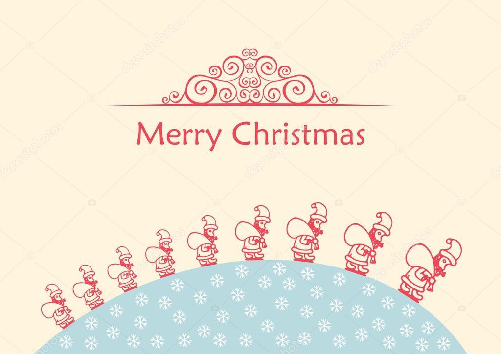 Bola feliz de la Navidad. Doodle de fondo Vector — Vector de stock ...