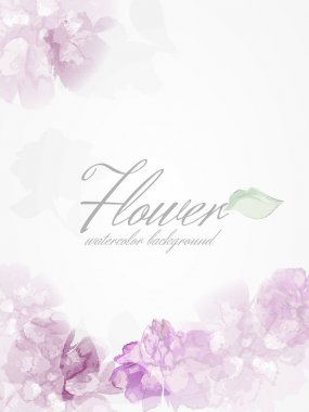 Background with watercolor peonies