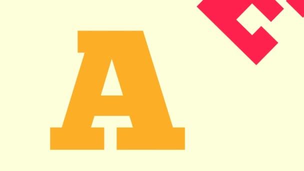 Animovaná ukázka barvy písmen textu Prodej