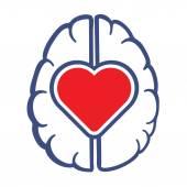 Photo Heart and Human Brain symbol