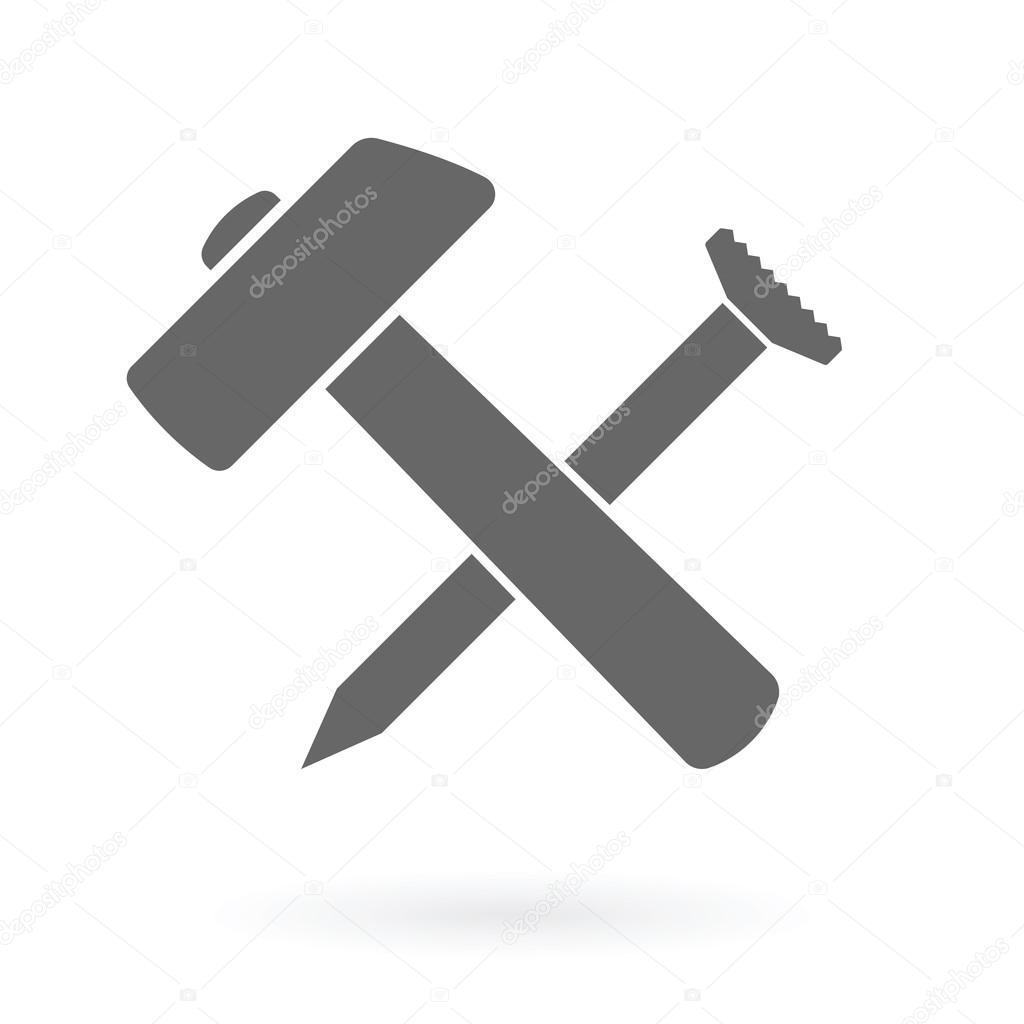 hammer und nagel symbol stockvektor antkevyv 75290317. Black Bedroom Furniture Sets. Home Design Ideas