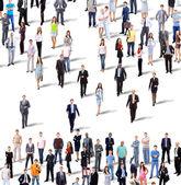 Fotografie Skupina lidí, podnikání. Izolované na bílém pozadí