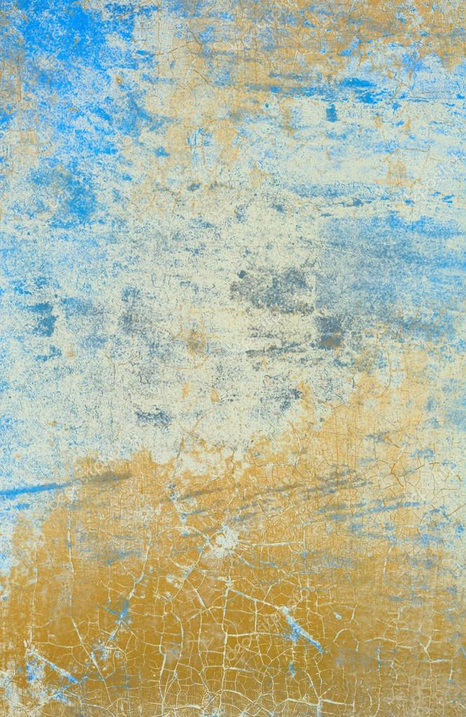 Mur Bleu Clair Avec Effet Peinture Fissuré Photographie