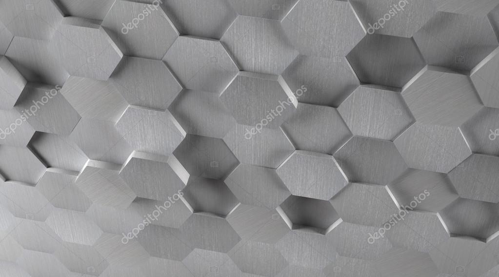 Priorità bassa esagonale delle mattonelle del metallo 3d u2014 foto