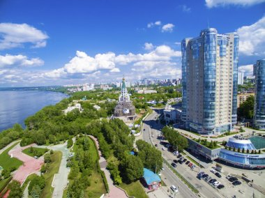 SAMARA, RUSSIA - MAY 21: Day view of the apartment complex Ladya