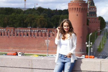 Young beautiful girl in Moscow