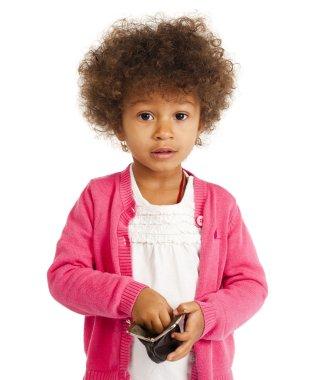 Portrait of beautiful happy little girl