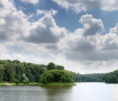 Lake at the urban park