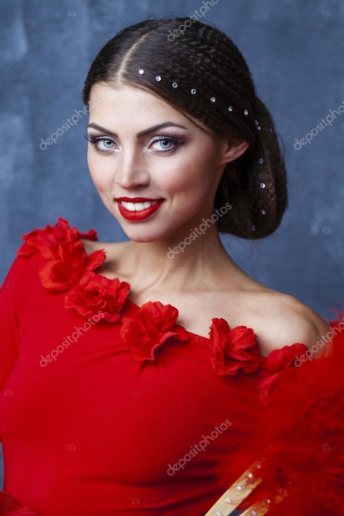 Flamenco vestito rosso