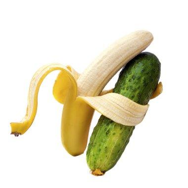 Duet bananas and cucumber