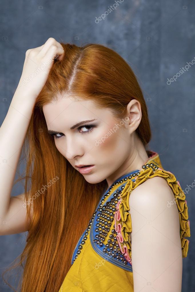 Bilder von schönen roten Haaren Frau