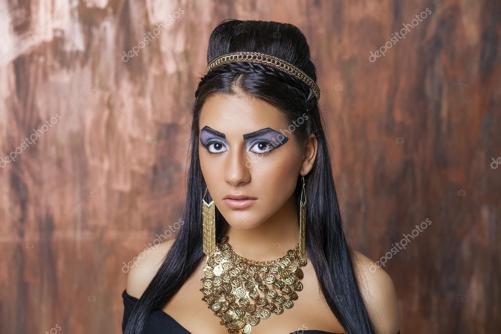 Egipska Królowa Kleopatra Zdjęcie Stockowe Arkusha 87873040