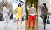 Fotografie Collage aus vier verschiedene Modelle in modischen Kleidern für die