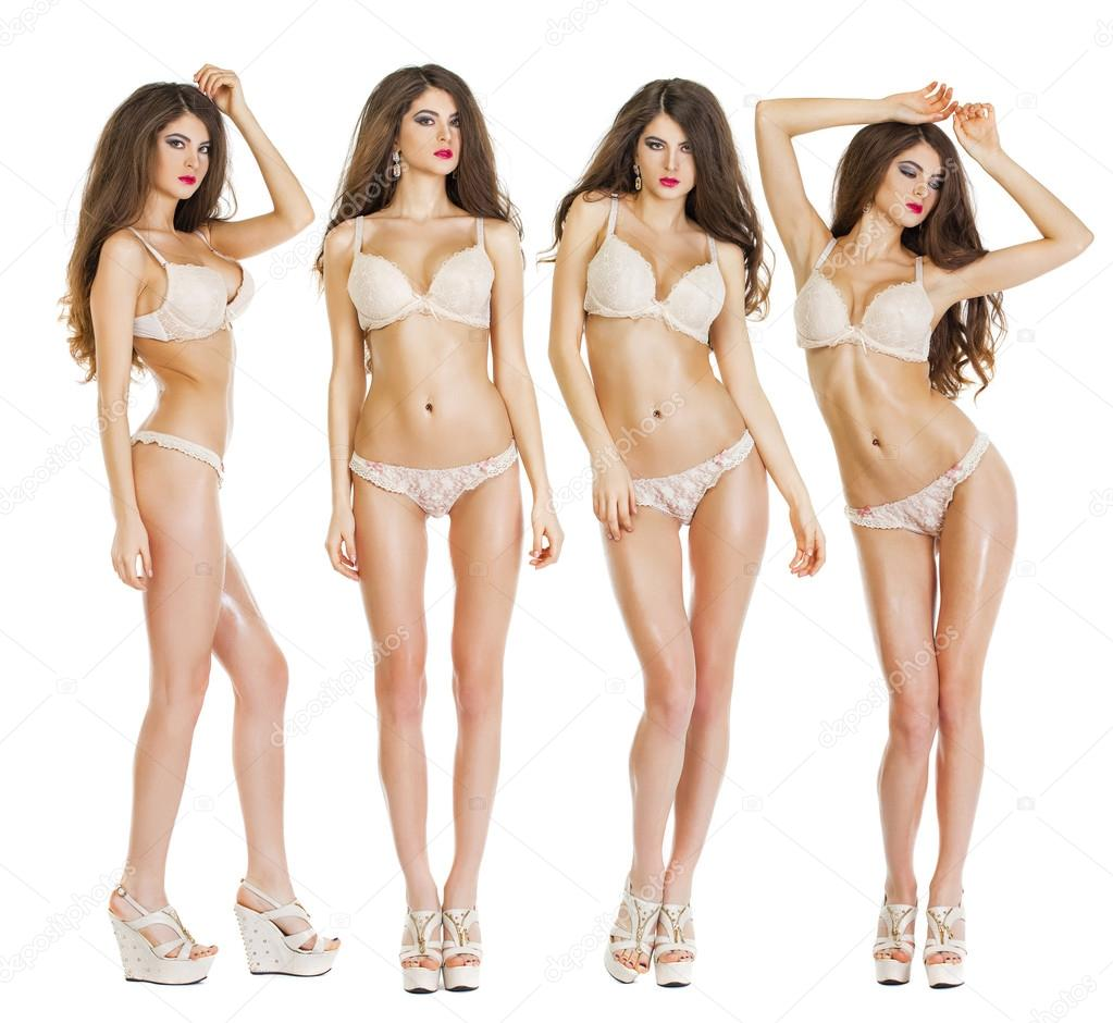 84ec321e2f52b Collage-Modelle. Schöne Ganzkörper Brünette Schönheit Frauen ...