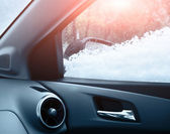 Fotografie The car close up on a snow