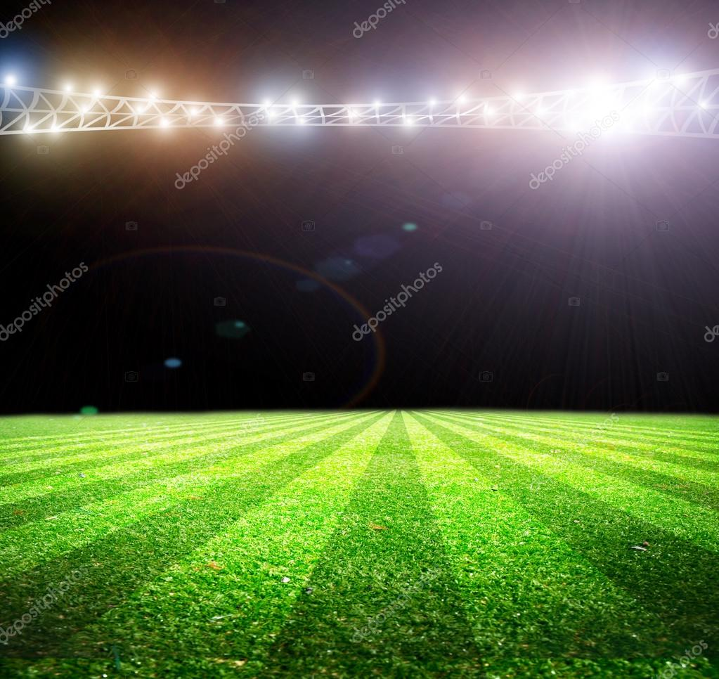 Football Stadium Night Lights: Lights At Night And Soccer Stadium