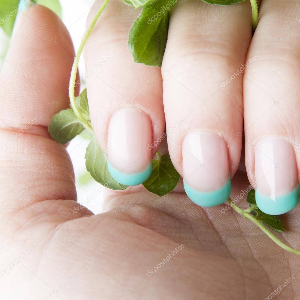Diseño de uñas menta fresca — Fotos de Stock © nanka-photo #55693449