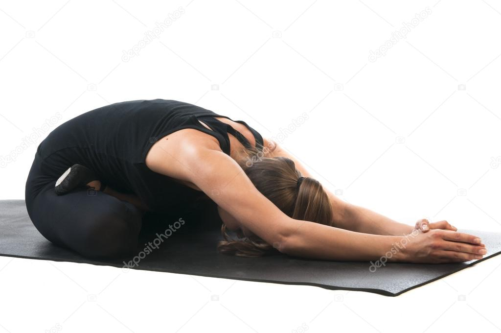 Woman In Yoga Mudrasana Pose Stock Photo C Nanka Photo 64831499