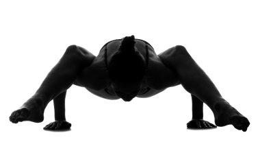 Woman exercising gymnastic