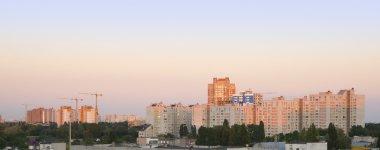 Sunrise over Kiev city