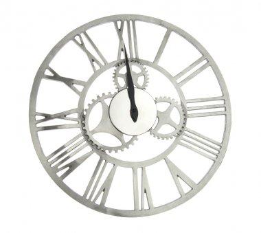 vintage clock with cog wheels