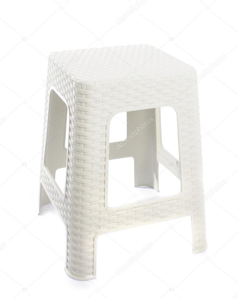 Wondrous Plastic Backless Stool On White Background Stock Photo Evergreenethics Interior Chair Design Evergreenethicsorg
