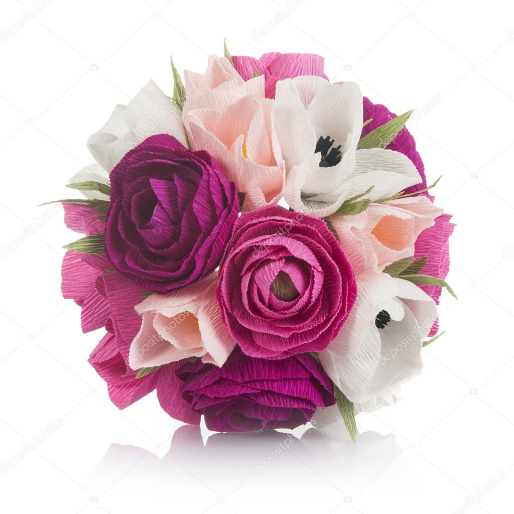 Bouquet Of Hand Made Paper Flowers Stock Photo Nanka Photo 95281570