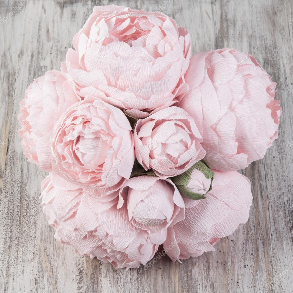 Pink paper peonies flowers stock photo nanka photo 99586962 pink paper peonies flowers stock photo mightylinksfo
