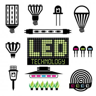 LED lighting icons