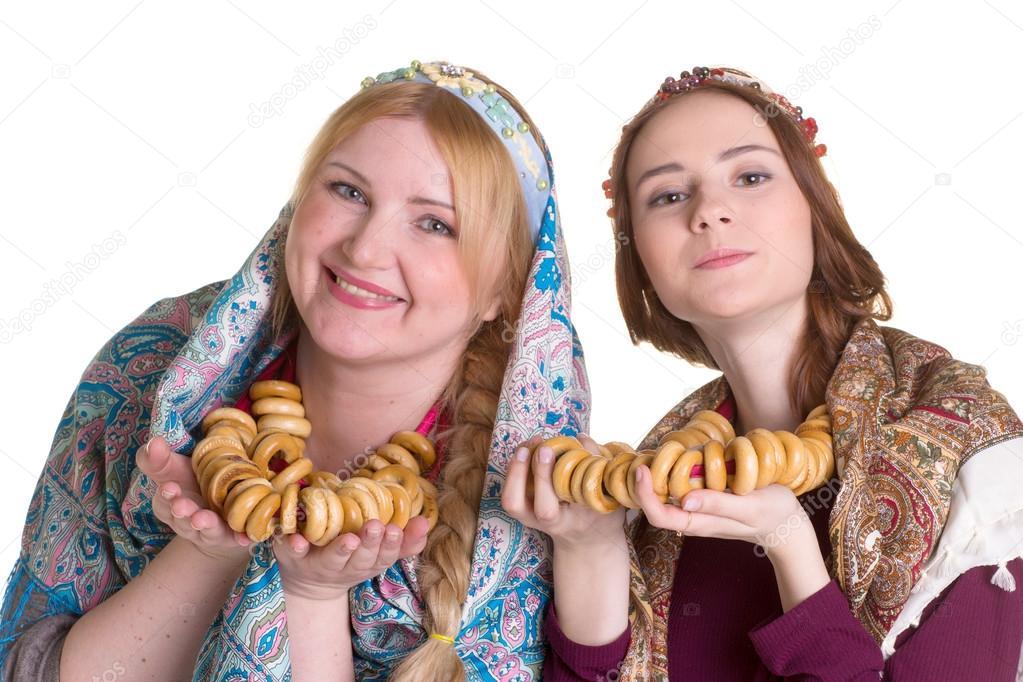 Rus Kadınlar Ulusal Başörtüsü Stok Foto Gsdonlin 102547690