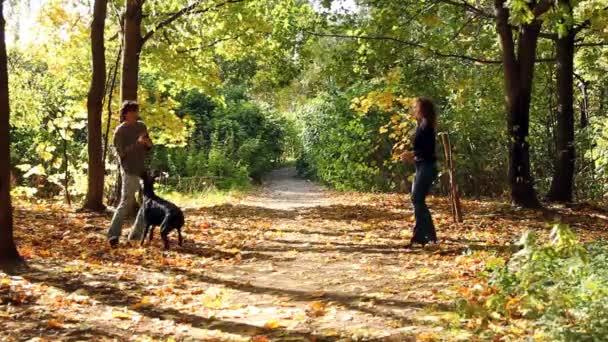 Žena a muž, hrát se psem