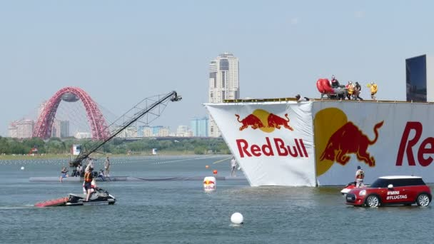 JUL 26, 2015 MOSCOW: Red bull flugtag day.