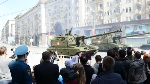 MOSCOW - May 09, 2015. Parade in honor of Second World War Victory Day on May 9.
