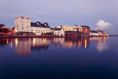 High tide on the river in Galway.