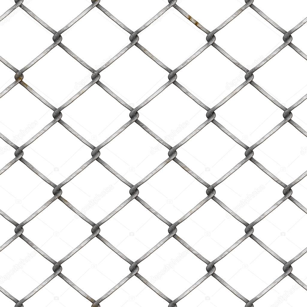 wire mesh fence at white background — Stock Photo © gilmanshin #85039604