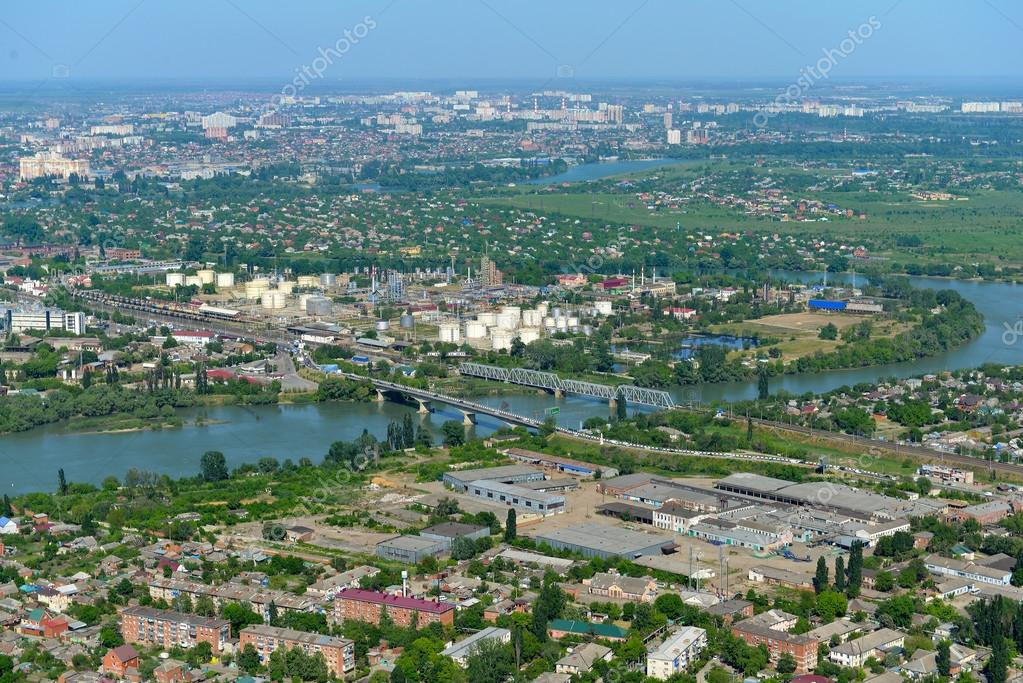 Krasnodar city russia stock photo olivia 110932524 top view of the city krasnodar and kuban river russia photo by olivia thecheapjerseys Images