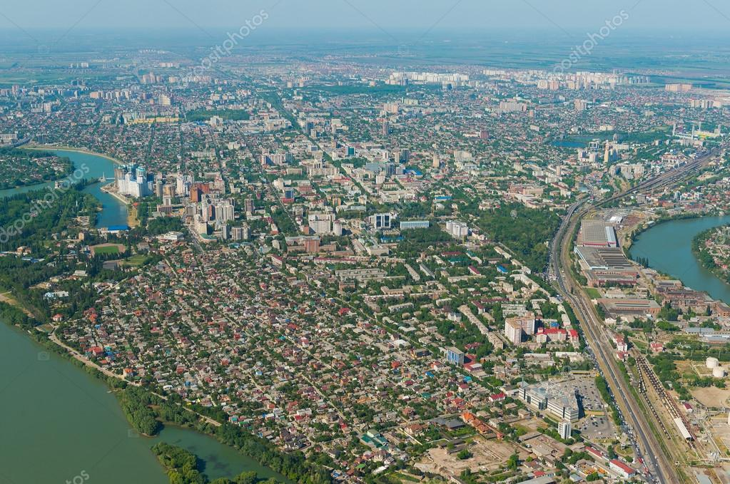 Krasnodar city russia stock photo olivia 110932544 top view of the city krasnodar and kuban river russia photo by olivia thecheapjerseys Images