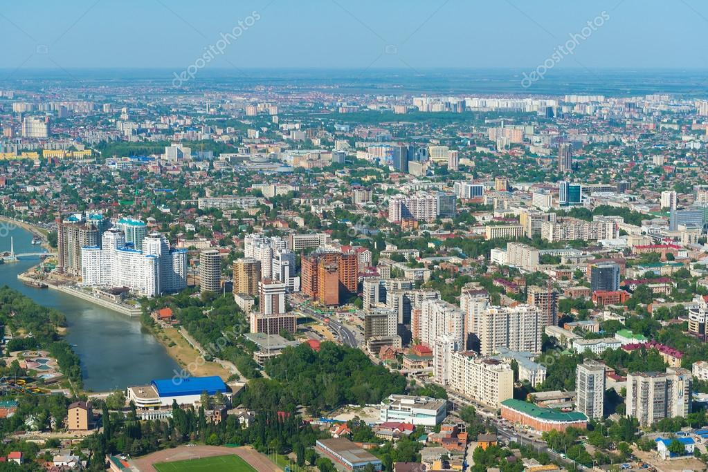 Krasnodar city russia stock photo olivia 111006112 top view of the city krasnodar and kuban river russia photo by olivia thecheapjerseys Images