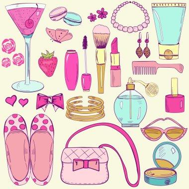 Bright everyday feminine accessories
