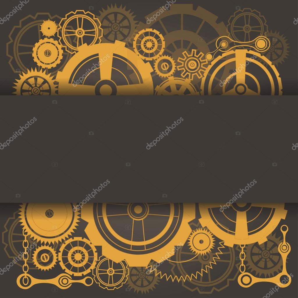 template with steampunk cogs stock vector chiociolla 110807574