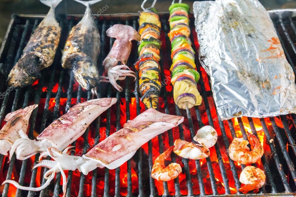 Barbecue Grill - sea food BBQ