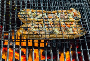 Barbecue Grill cooking food sandwich