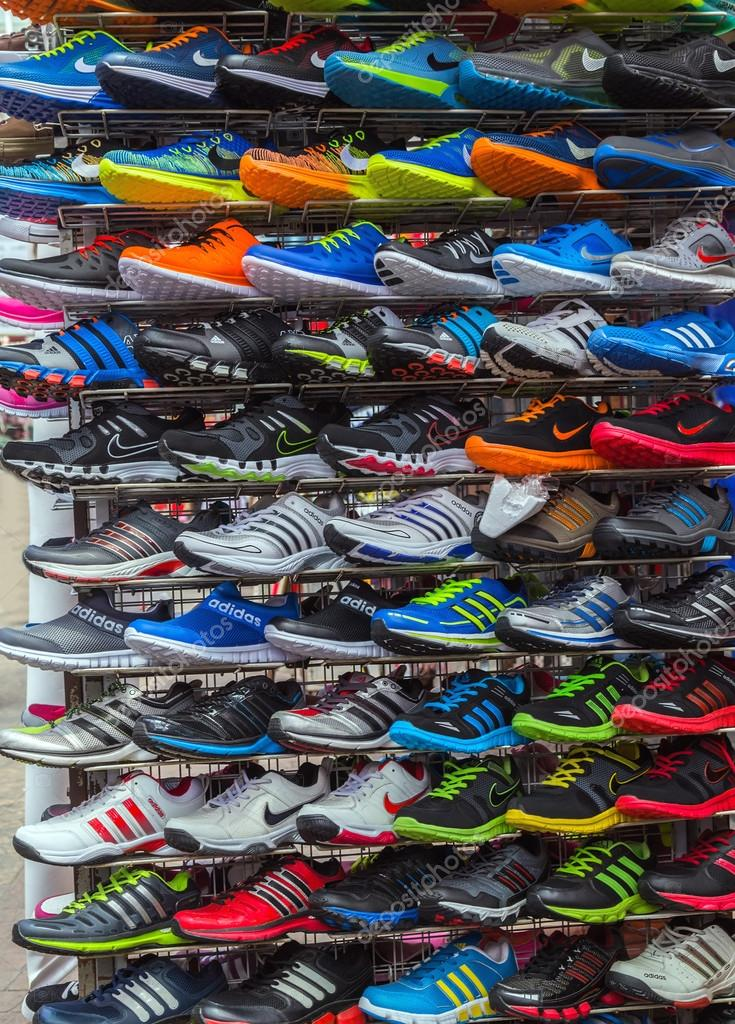 more photos 9877f ecf22 New Sport shoes, running shoe sale – Stock Editorial Photo ...