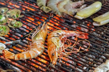 King tiger prawns