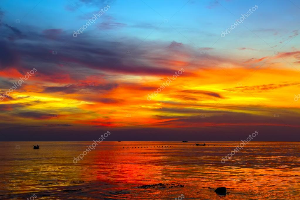 cloudy sunset sky background,