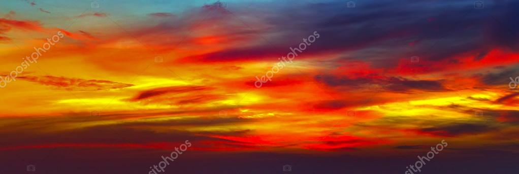 Scenic cloud sunset sky