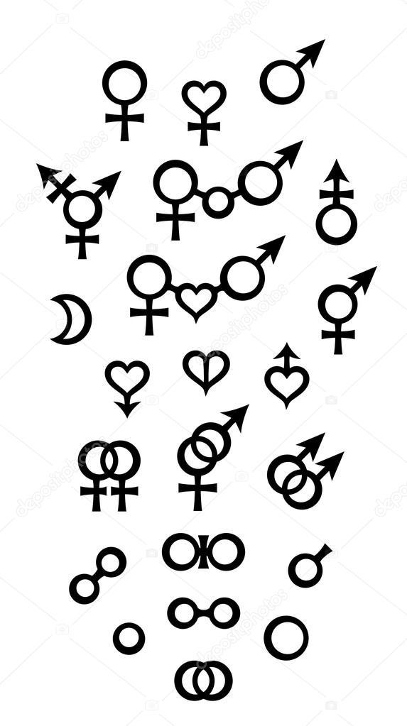 Biologische Symbolen En Tekens Van Sex Gender Betrekkingen