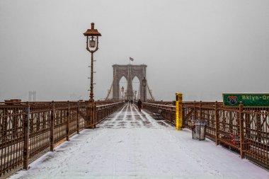Brooklyn Bridge in winter time